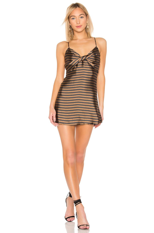 House of Harlow 1960 X REVOLVE Lorena Dress in Brown & Black Stripe