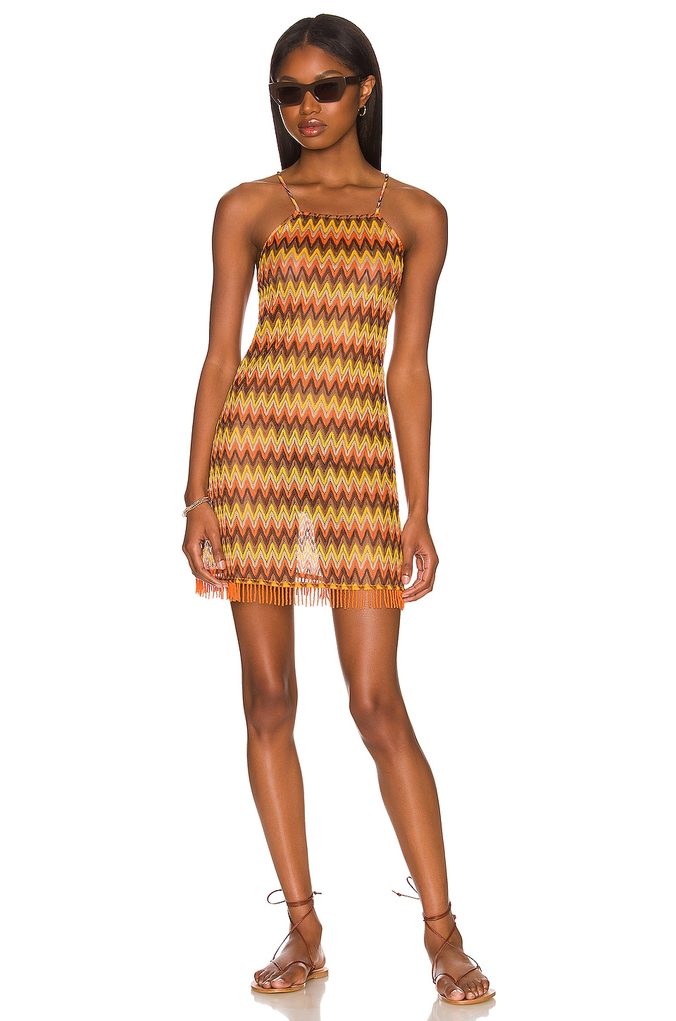 House of Harlow 1960 X REVOLVE Missy Dress in Rusty Chevron