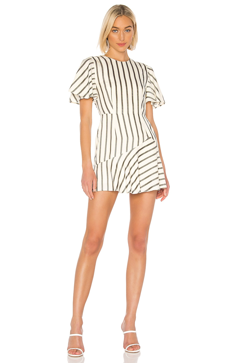 House of Harlow 1960 X REVOLVE Calvin Dress in Ivory & Black Stripe