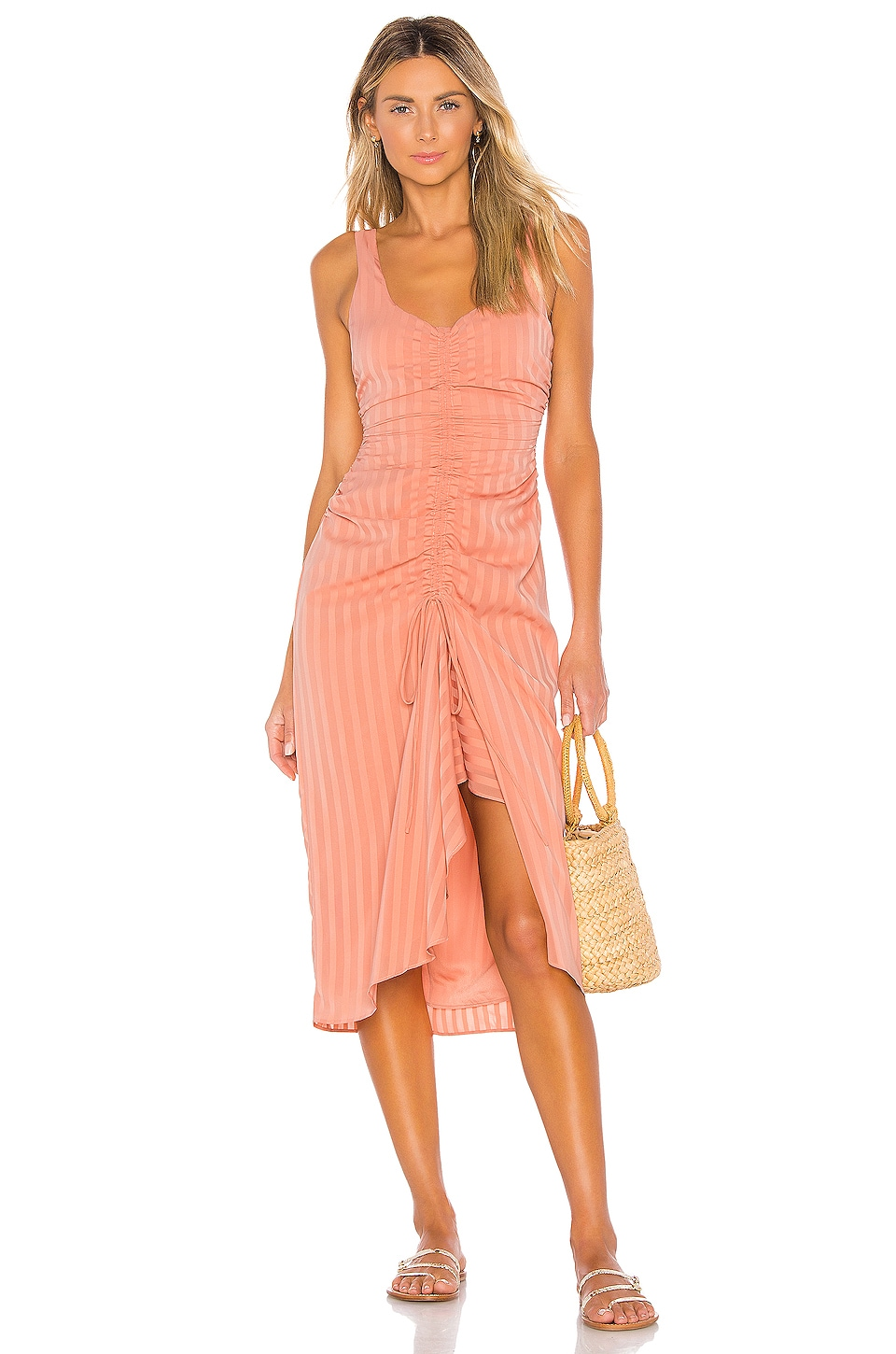 House of Harlow 1960 X REVOLVE Claudia Midi Dress in Peach