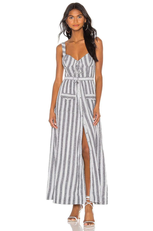 House of Harlow 1960 X REVOLVE Nadia Dress in White & Black Stripe