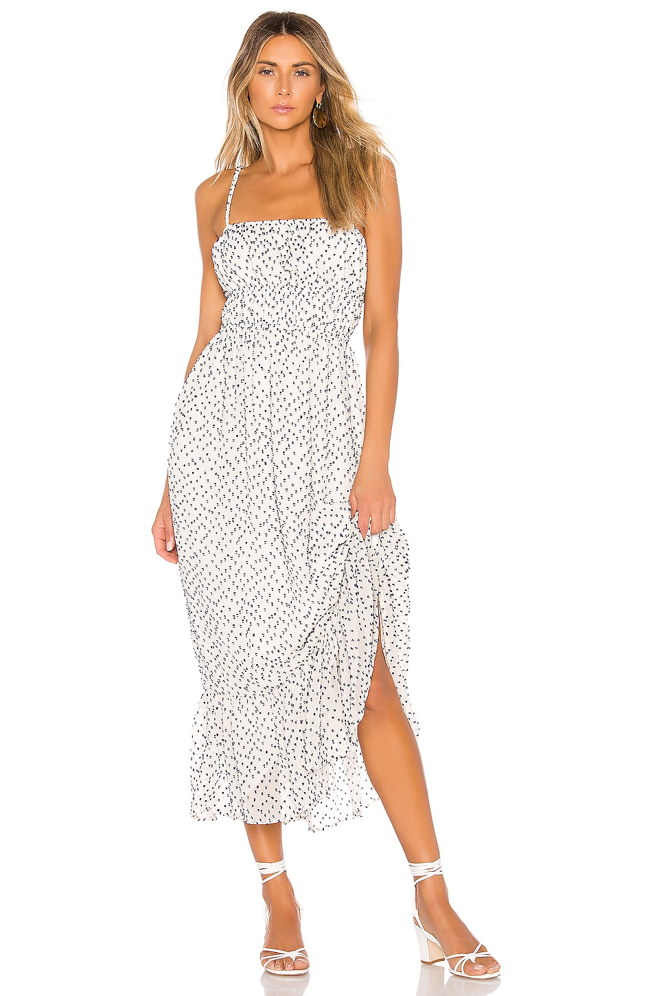 House of Harlow 1960 X REVOLVE Julia Maxi Dress in White & Navy
