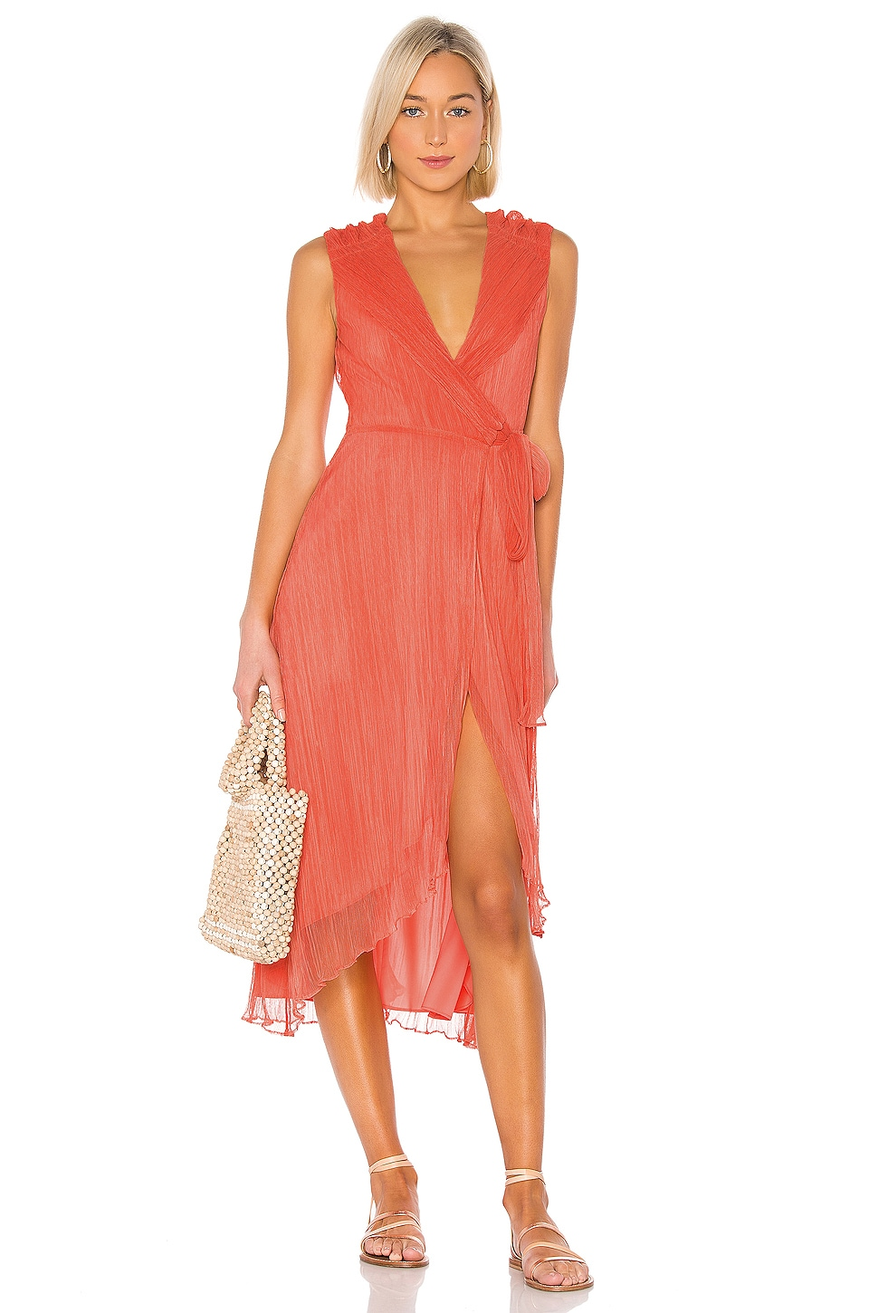 House of Harlow 1960 X REVOLVE Meriem Dress in Coral
