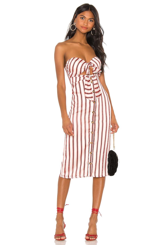 House of Harlow 1960 X REVOLVE Colette Dress in Red Pop Stripe