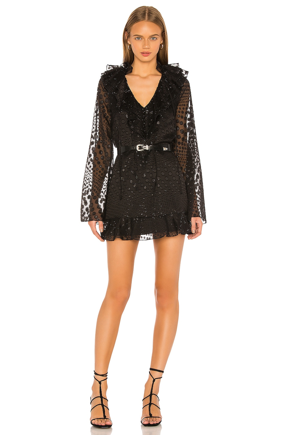 House of Harlow 1960 X REVOLVE Yalitza Mini Dress in Noir