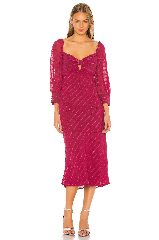 House of Harlow 1960 X REVOLVE Ananya Midi Dress in Wine