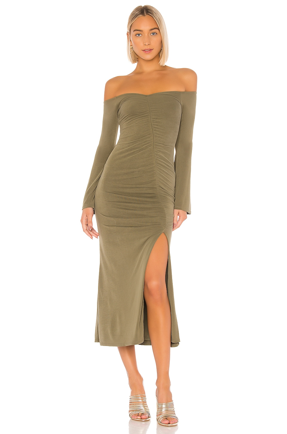 House of Harlow 1960 X REVOLVE Maccoy Midi Dress in Olive Green