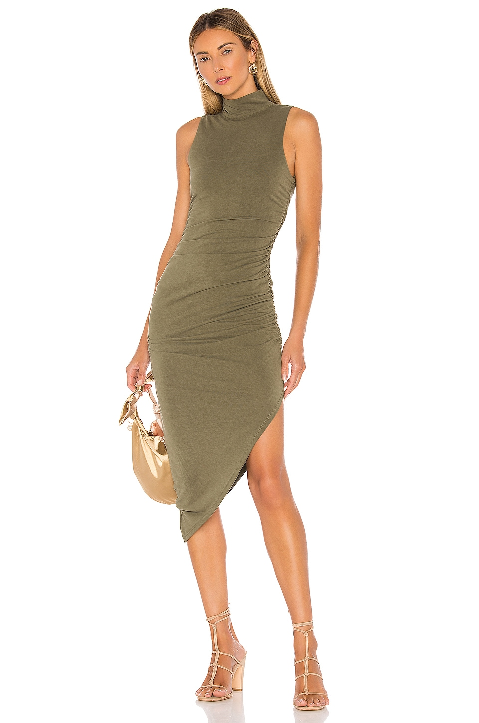 House of Harlow 1960 X REVOLVE Violet Dress in Olive Green