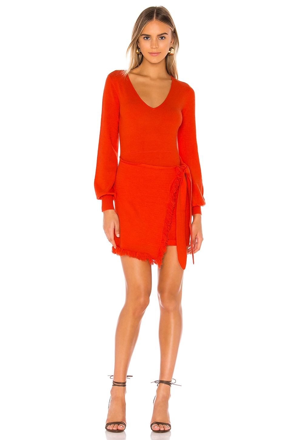 House of Harlow 1960 x REVOLVE Petra Sweater Dress in Crimson