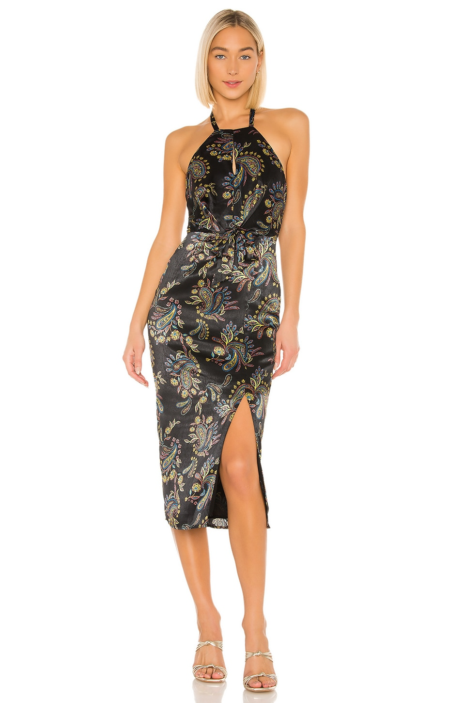 House of Harlow 1960 x REVOLVE Milo Dress in Noir Paisley Multi