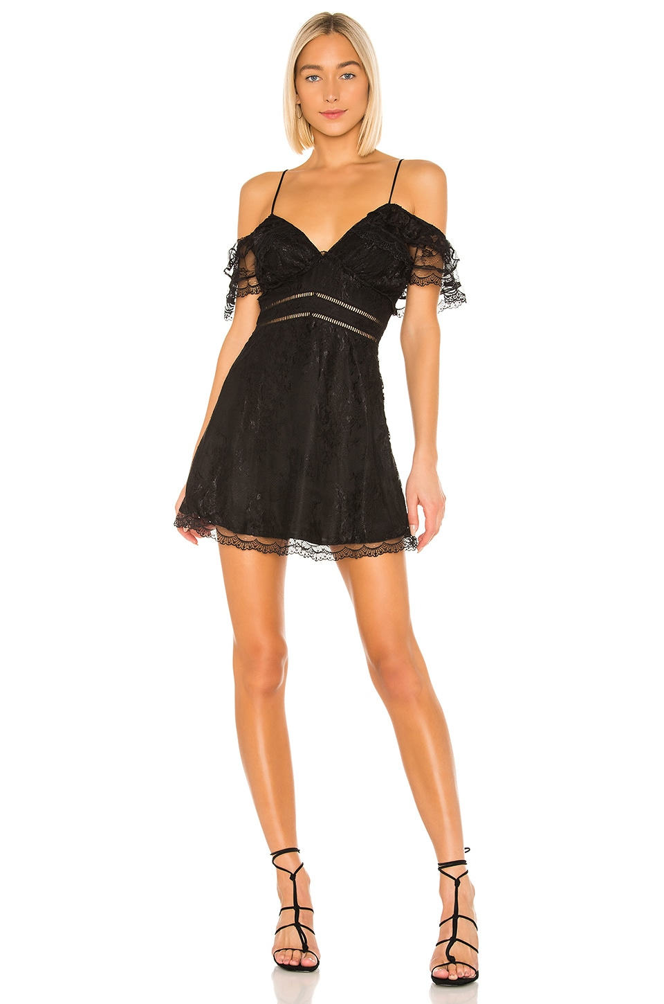 House of Harlow 1960 X REVOLVE Devi Dress in Noir