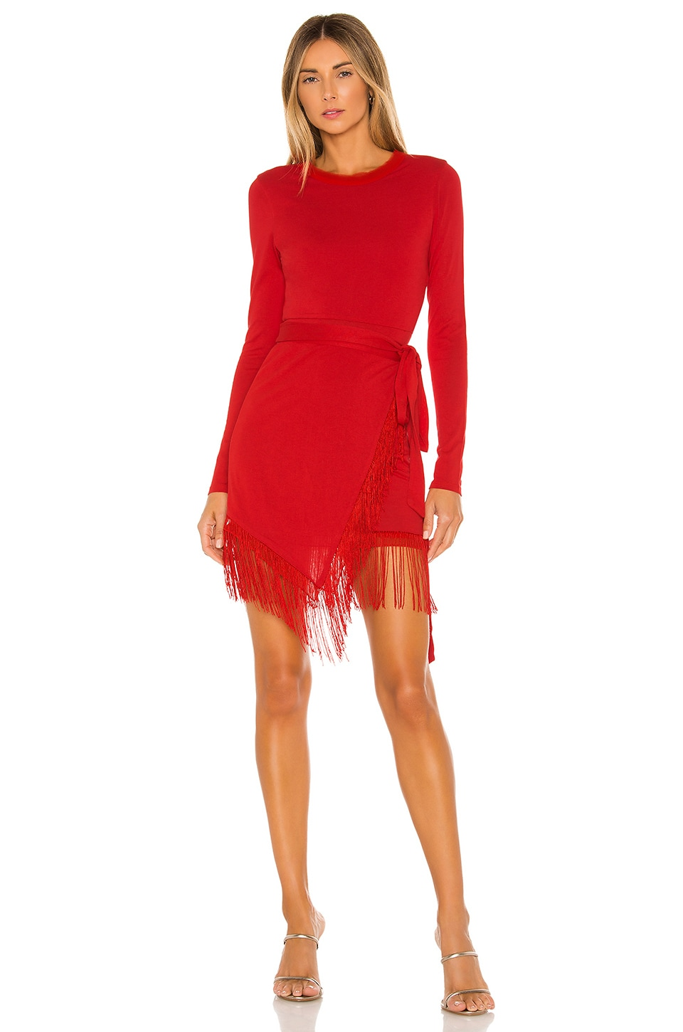 House of Harlow 1960 x REVOLVE Anisha Fringe Dress in Red