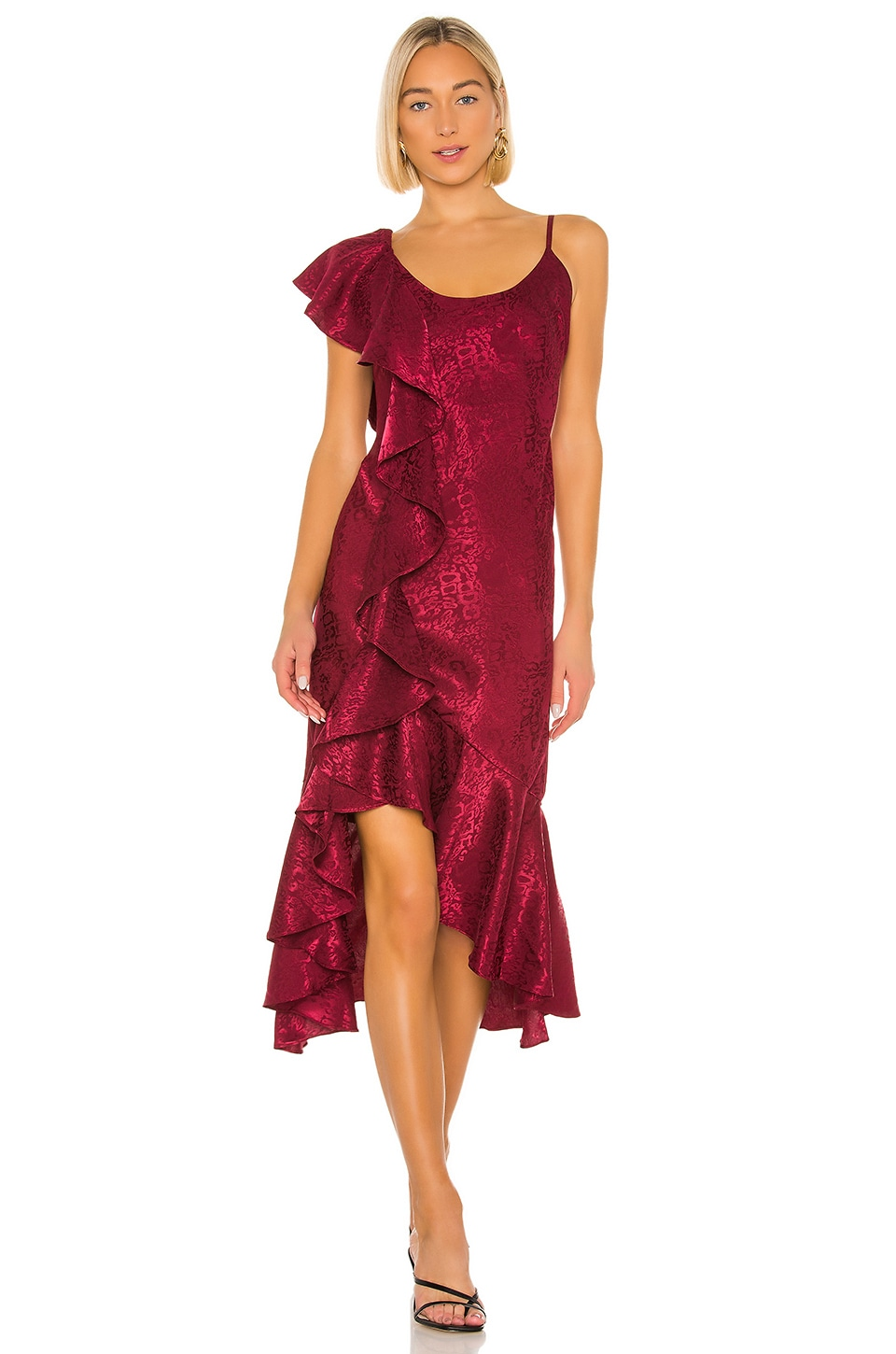 House of Harlow 1960 x REVOLVE Georgeta Dress in Currant Red