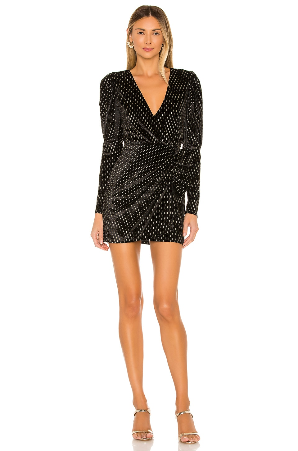 House of Harlow 1960 x REVOLVE Andrada Dress in Noir & Gold