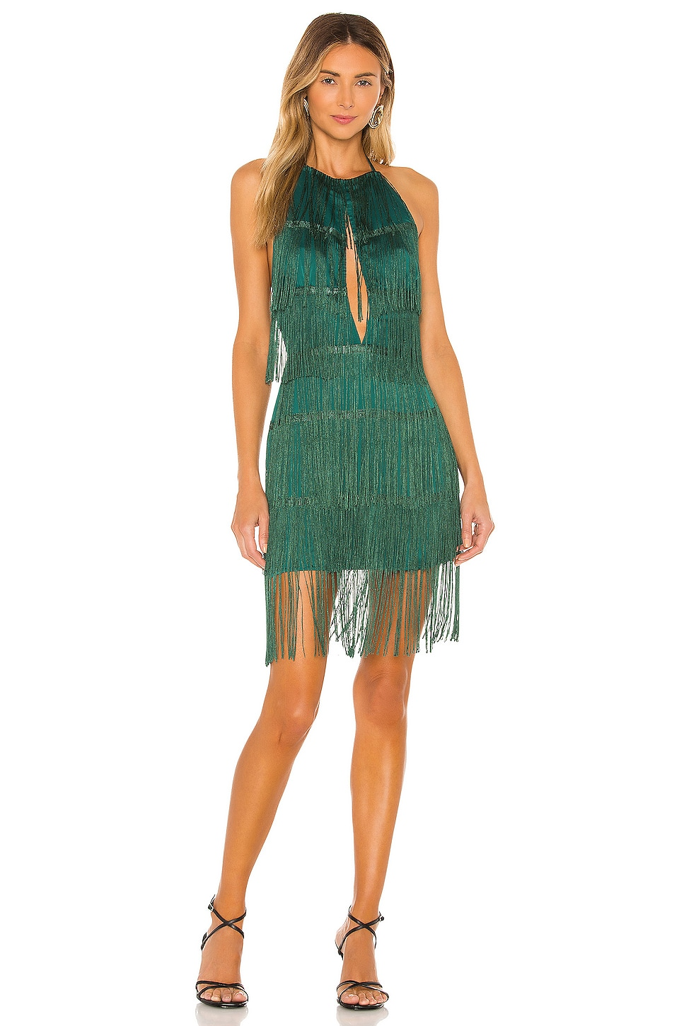 House of Harlow 1960 x REVOLVE Georgia Fringe Dress in Emerald