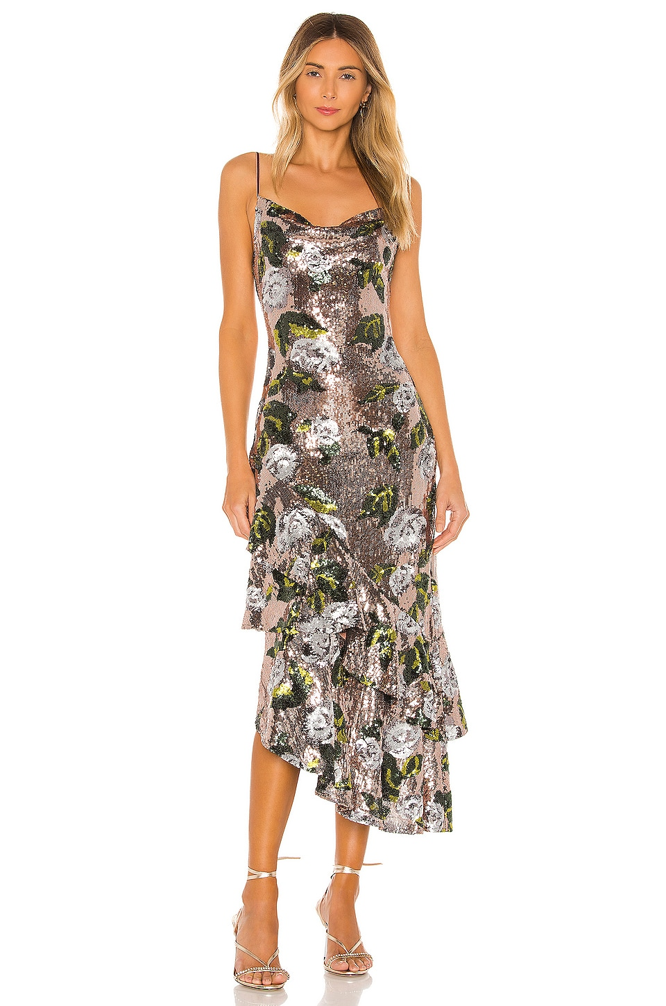 House of Harlow 1960 x REVOLVE Nicoleta Dress in Rose Gold Floral