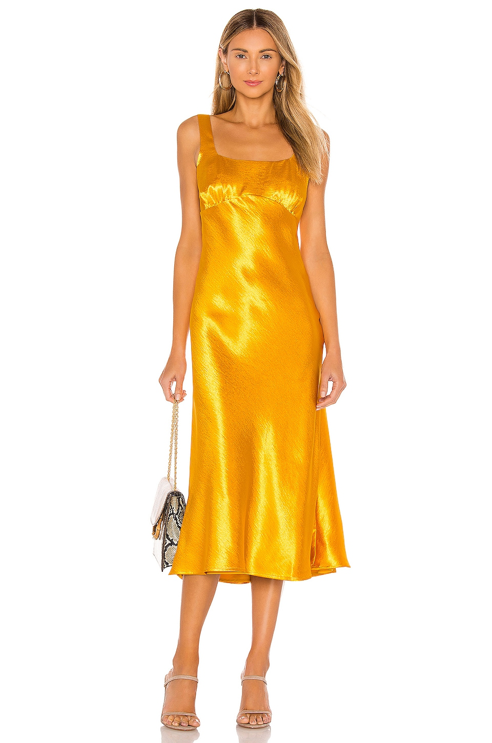 House of Harlow 1960 x REVOLVE Dorienne Midi Dress in Yellow Gold