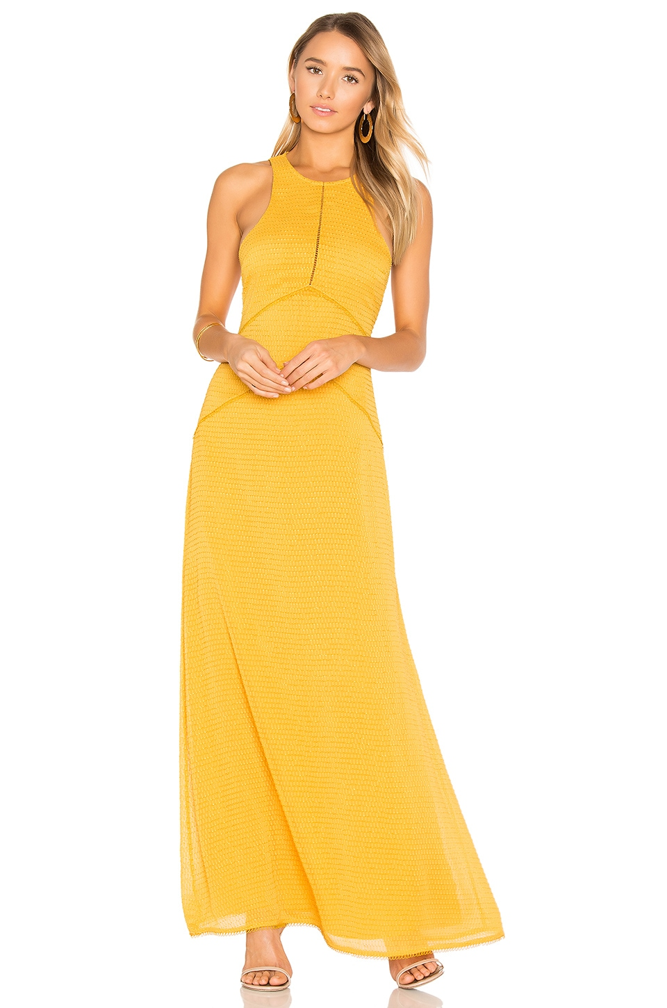 House of Harlow 1960 x REVOLVE Allegra Maxi Dress in Mustard
