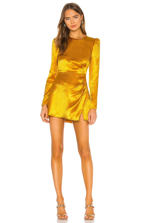 House of Harlow 1960 x REVOLVE Krisha Mini Dress in Yellow Gold