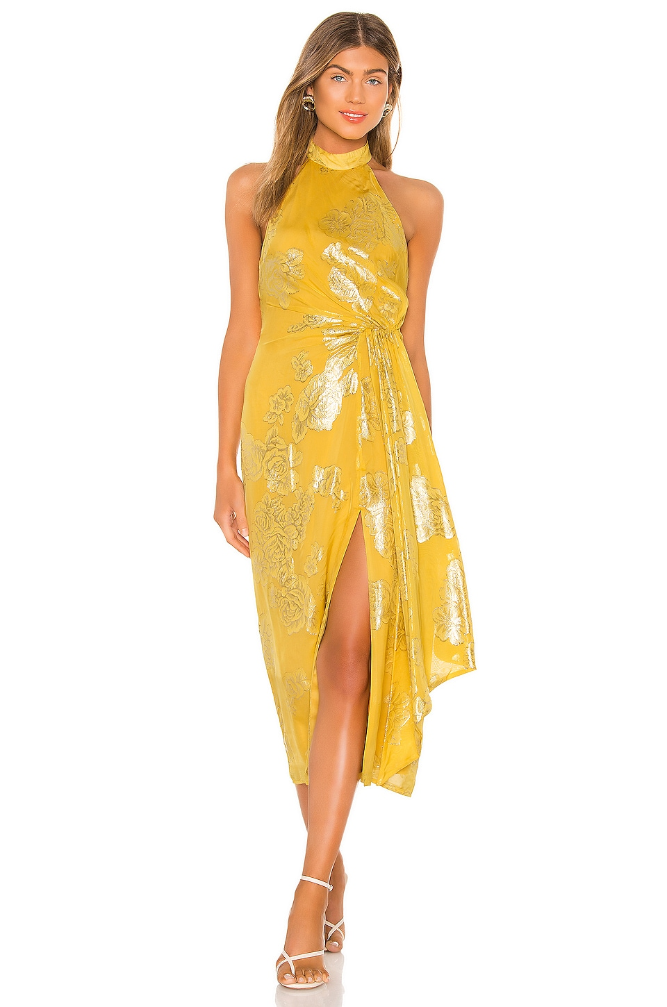 House of Harlow 1960 x REVOLVE Monika Midi Dress in Mustard Gold