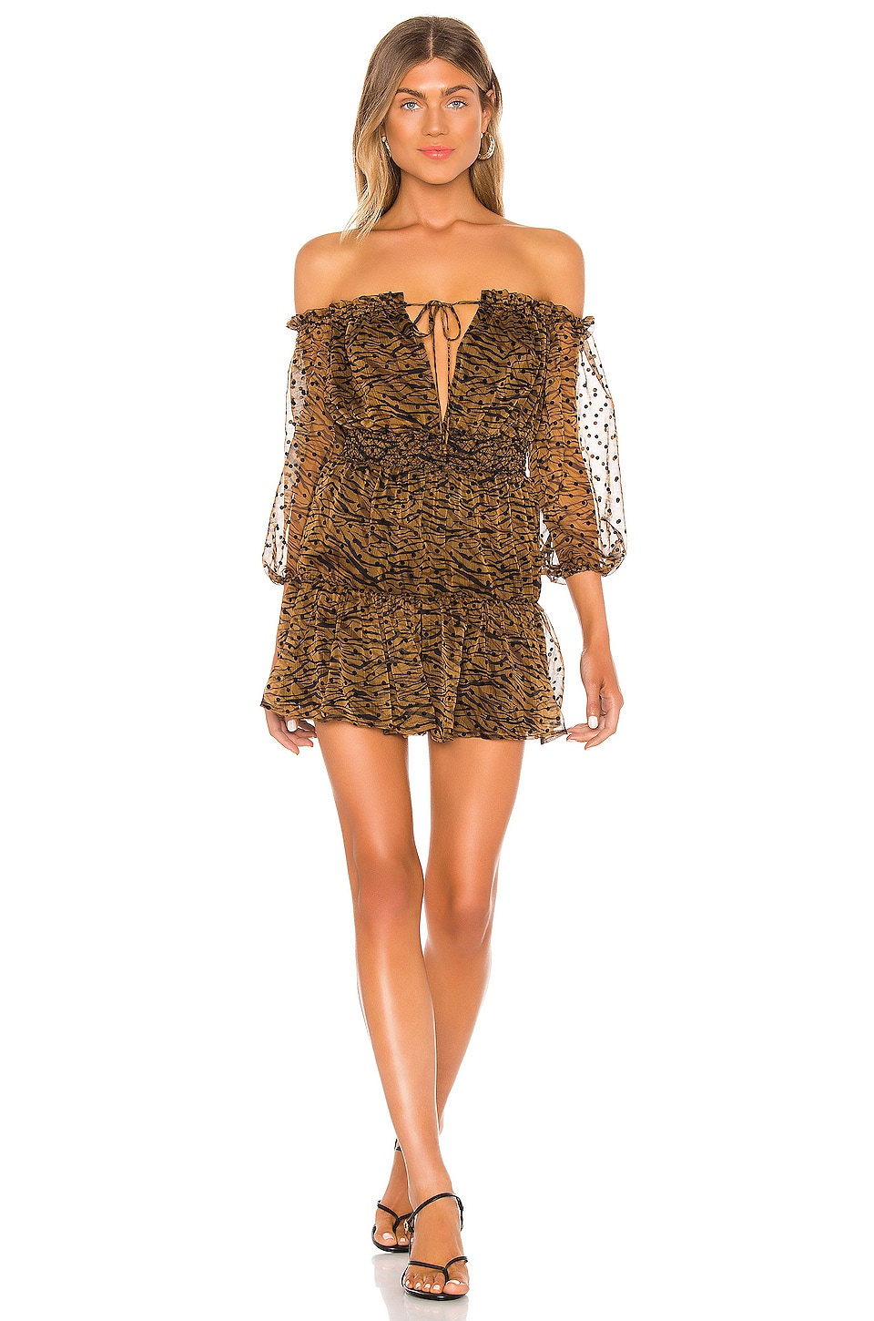 House of Harlow 1960 x REVOLVE Sapphire Mini Dress in Brown Multi