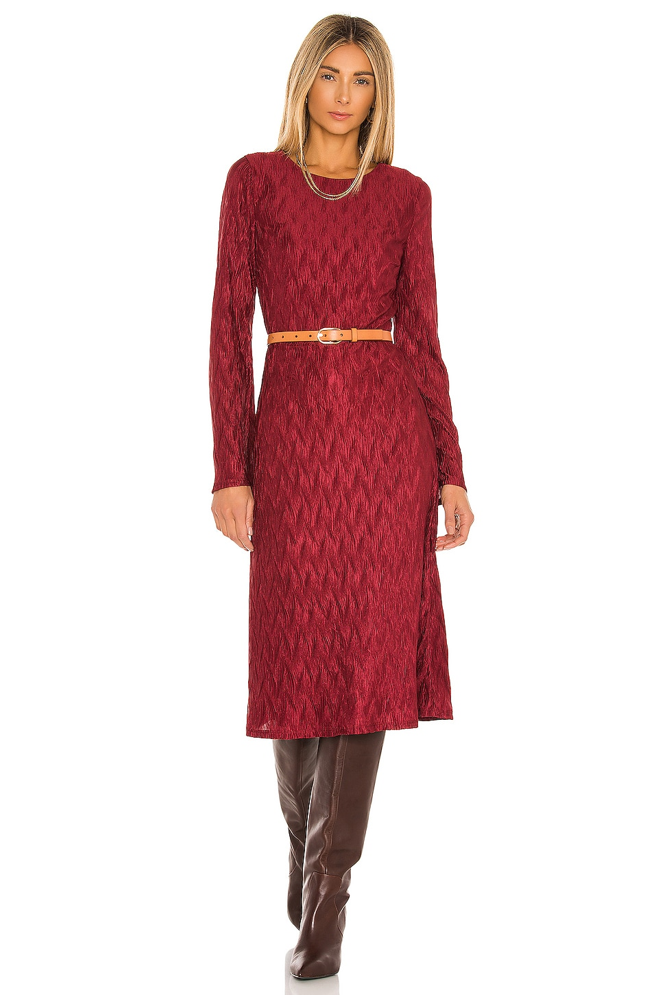 House of Harlow 1960 x REVOLVE Nona Long Sleeve Dress in Dark Red