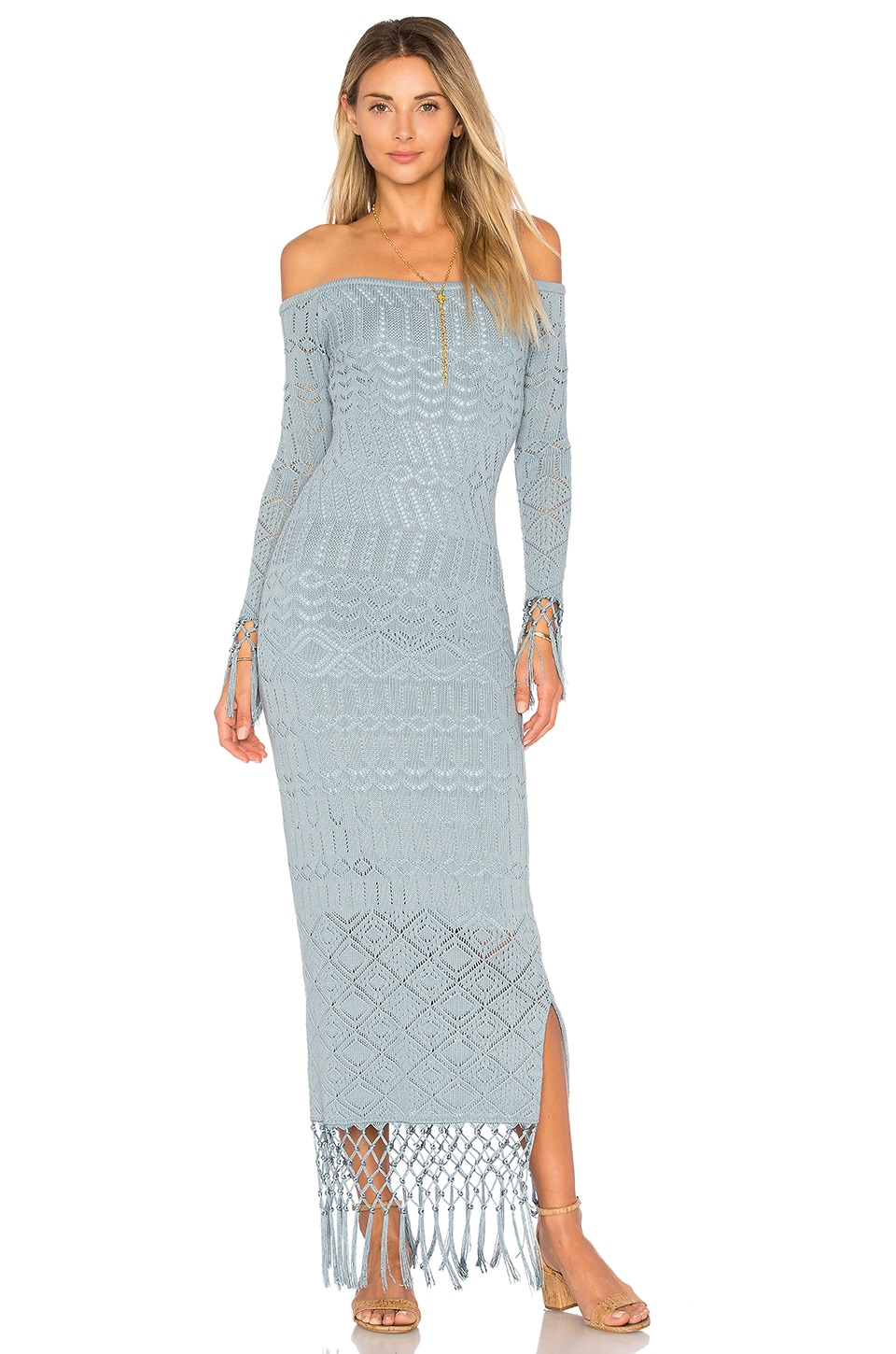 House of Harlow 1960 x REVOLVE Rose Dress in Dusty Blue