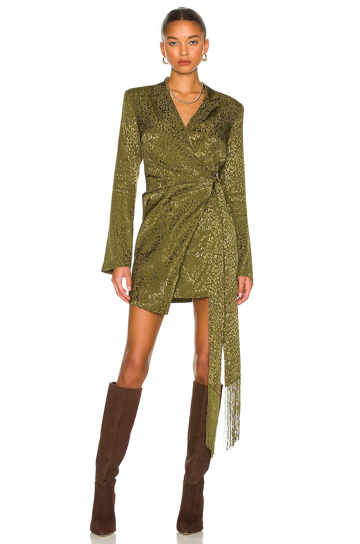 House of Harlow 1960 x REVOLVE Milani Mini Dress in Olive Green