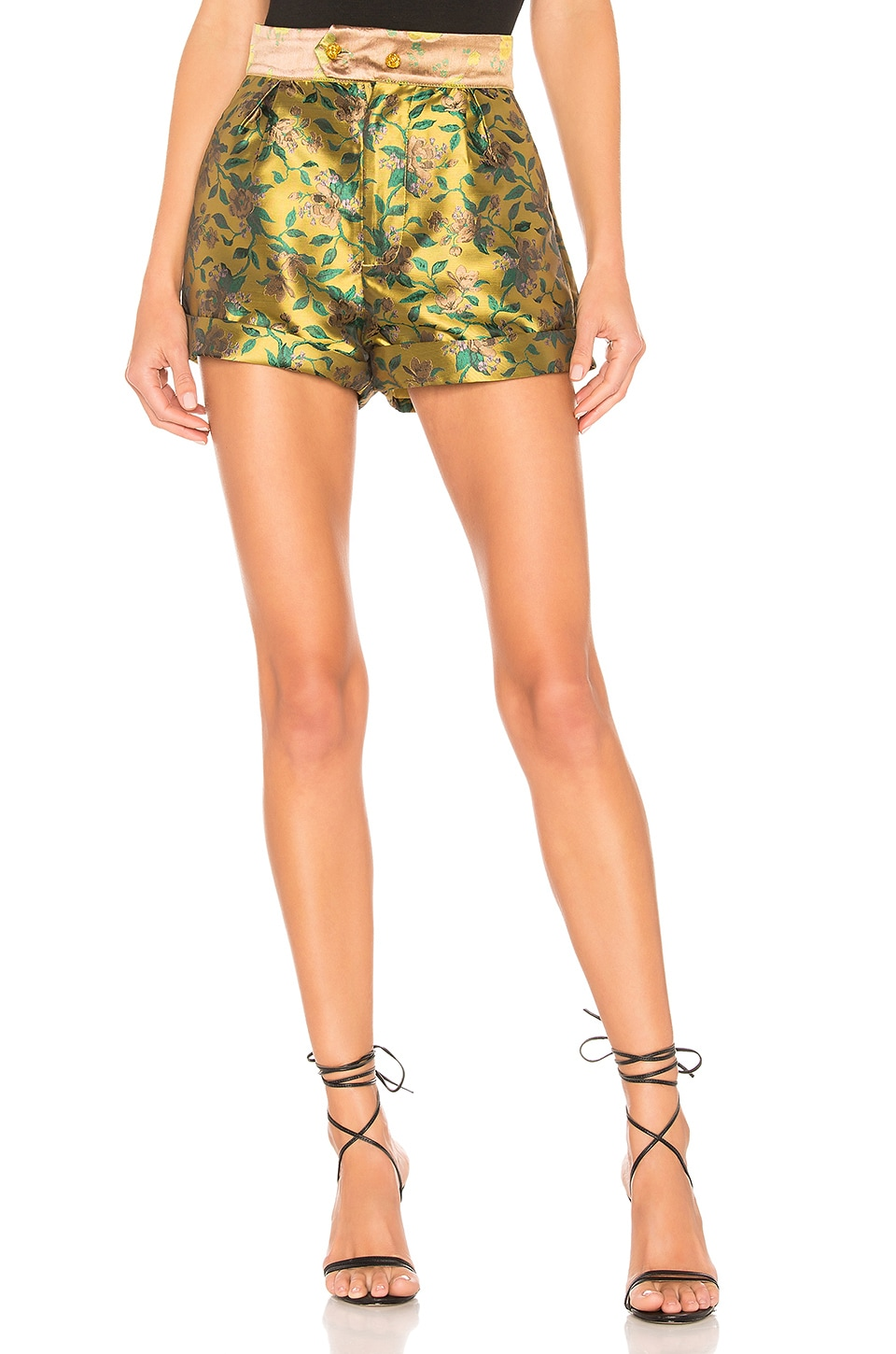 House of Harlow 1960 X REVOLVE Bismark Short in Chartreuse Yellow
