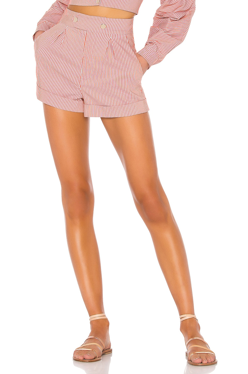 House of Harlow 1960 X REVOLVE Bismark Short in Orange & Grey