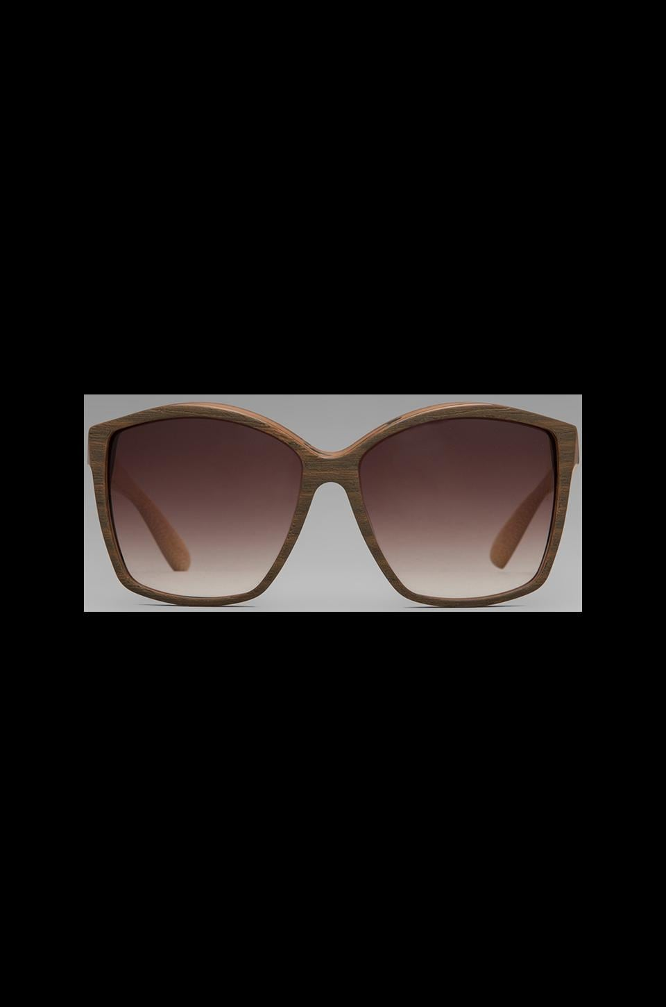 House of Harlow Jordana Sunglasses in Teak