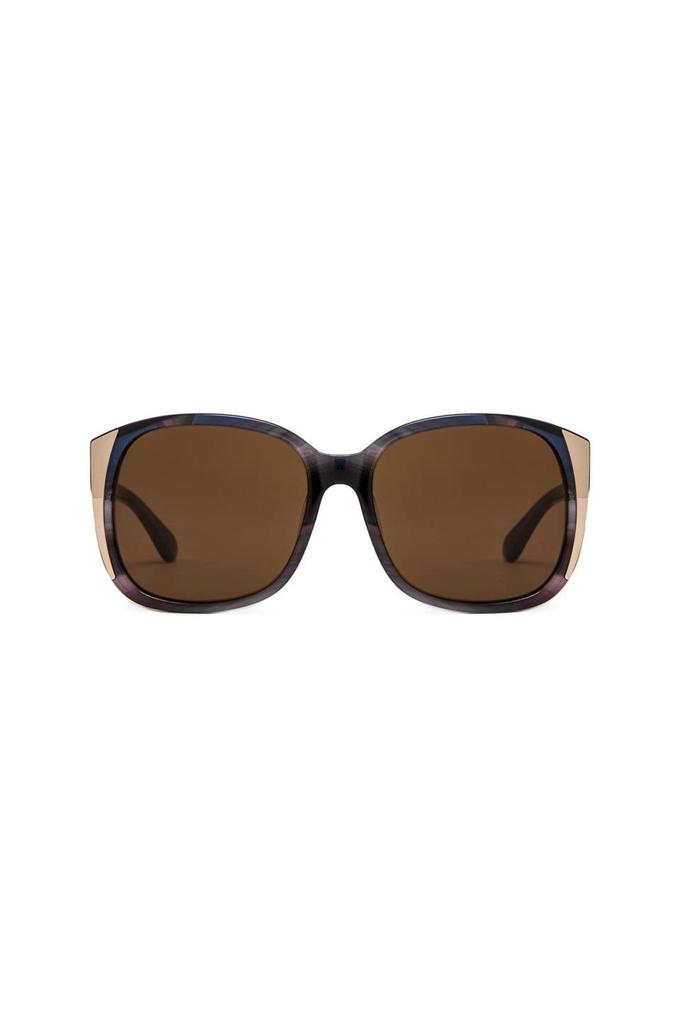 House of Harlow Julie Sunglasses in Iridescent Black