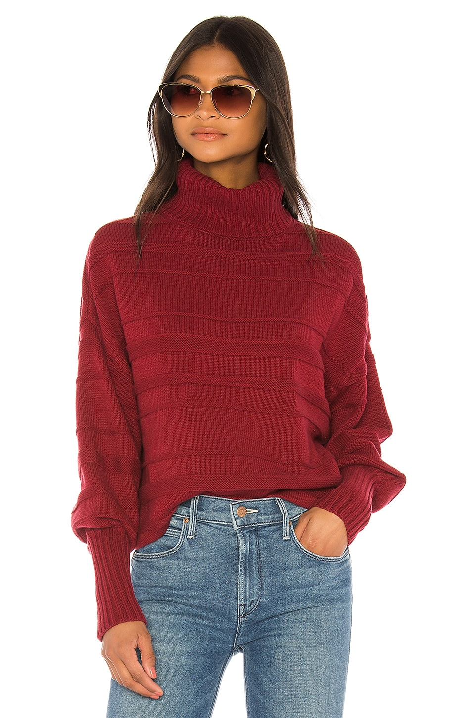 House of Harlow 1960 x REVOLVE Torin Sweater in Burgundy