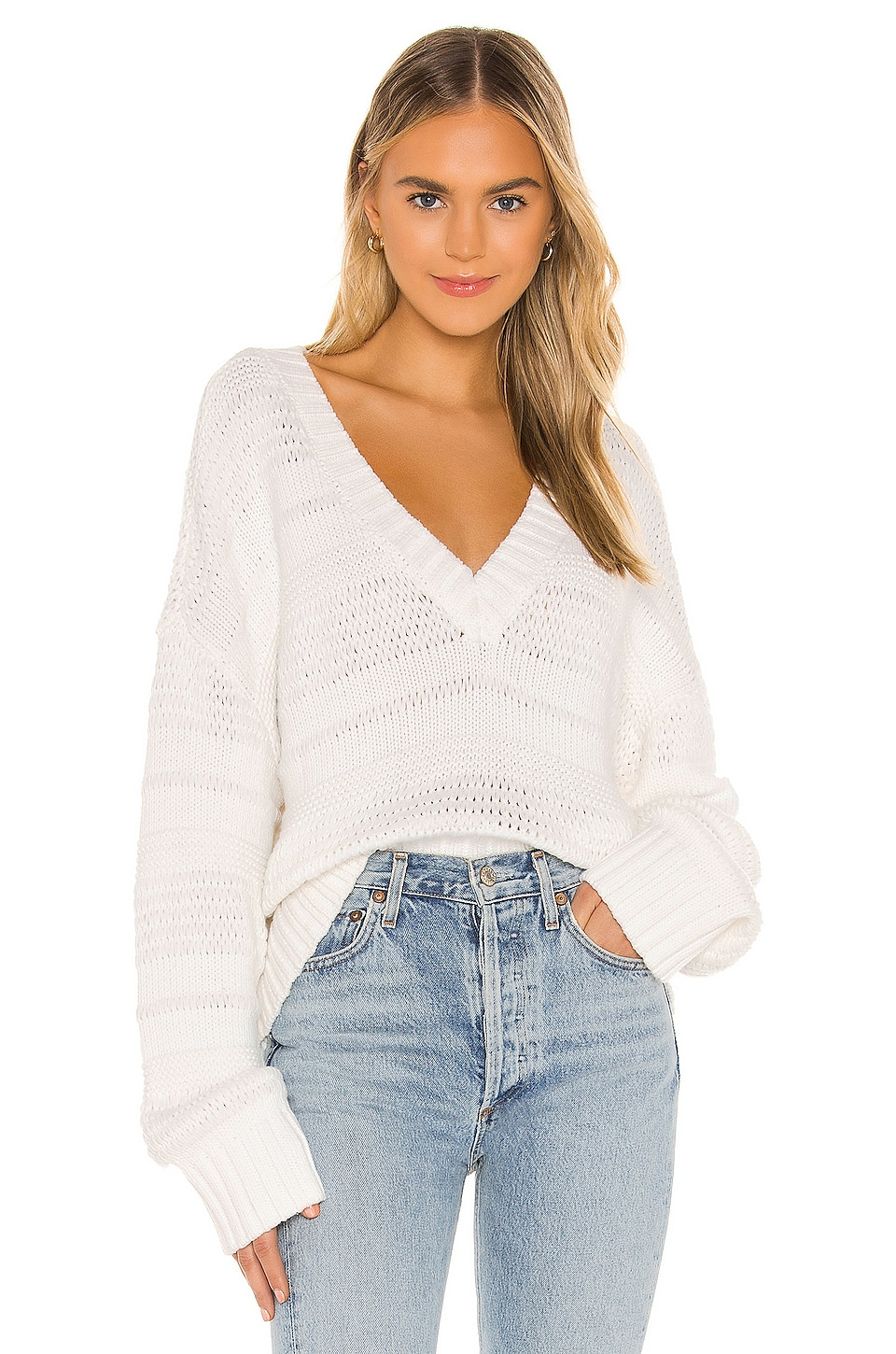House of Harlow 1960 x REVOLVE Conor Sweater in White