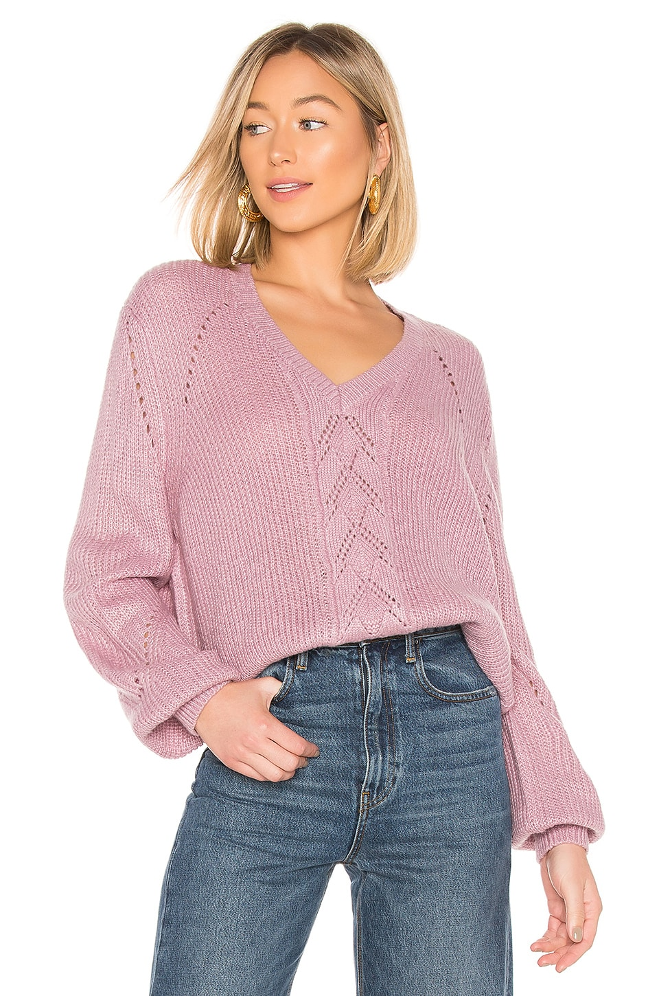 House of Harlow 1960 x REVOLVE Grayson Sweater in Lilac