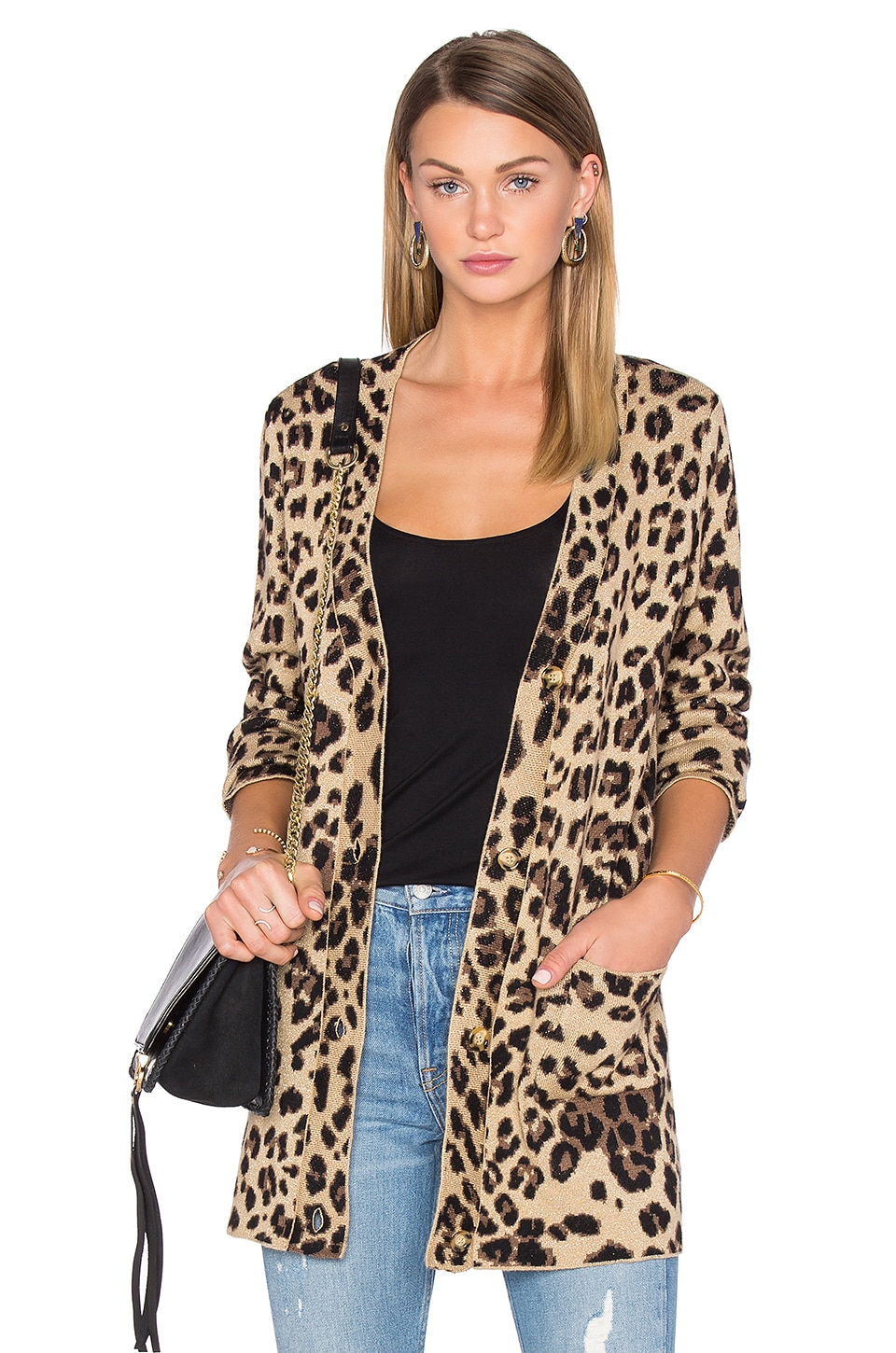 House of Harlow 1960 x REVOLVE Carine Cardigan in Leopard