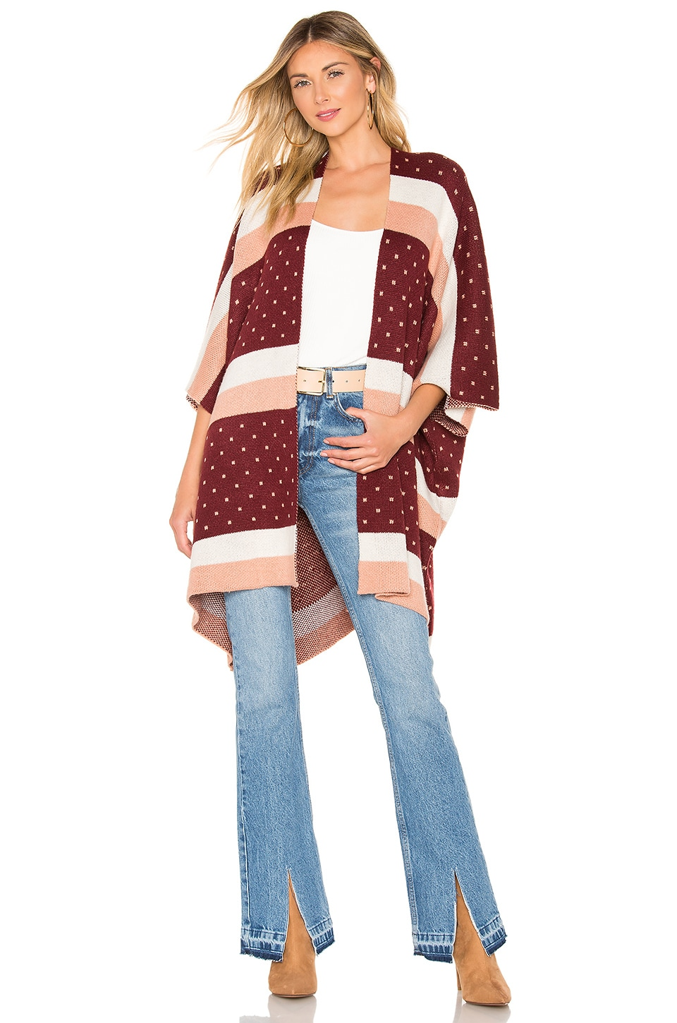 House of Harlow 1960 x REVOLVE Tustin Poncho in Desert Stripe