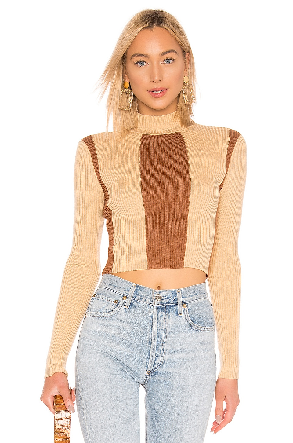 House of Harlow 1960 X REVOLVE Night Out Sweater in Tonal Tan