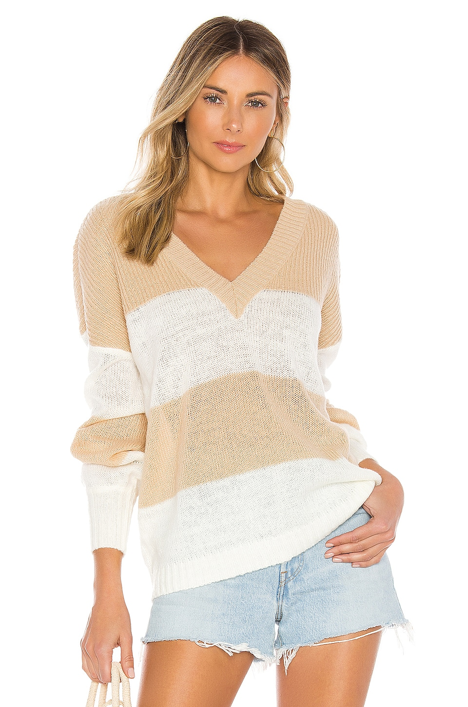 House of Harlow 1960 X REVOLVE Bali V Neck in Cappuccino