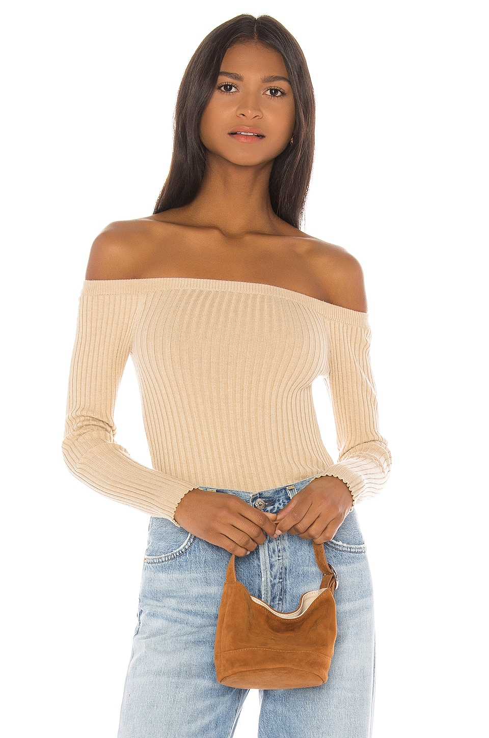 House of Harlow 1960 X REVOLVE Dove Rib Sweater in Beige