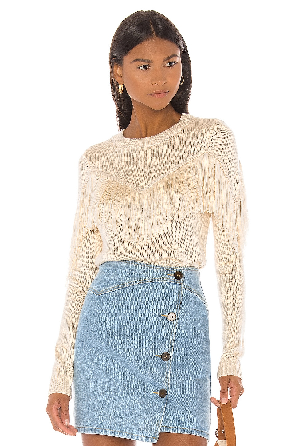 House of Harlow 1960 X REVOLVE Marnie Sweater in Ivory