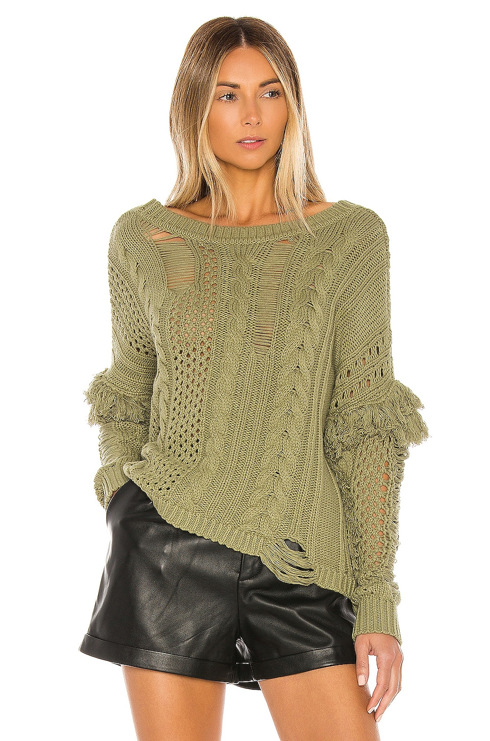 House of Harlow 1960 X REVOLVE Demas Sweater in Olive