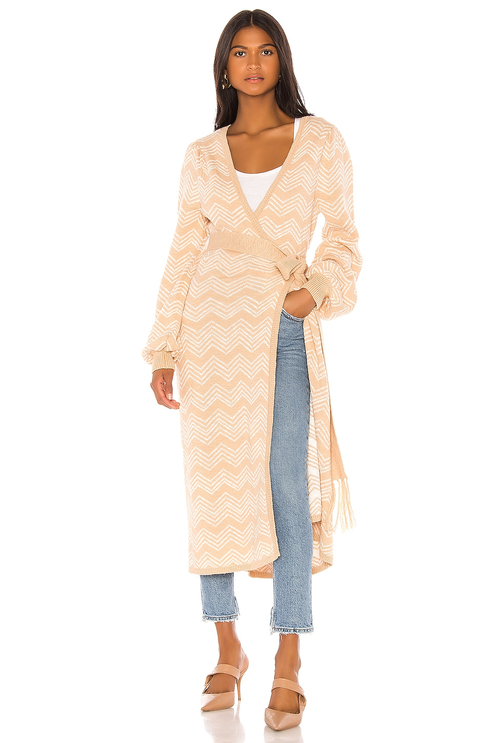 House of Harlow 1960 X REVOLVE Marisol Wrap in Camel