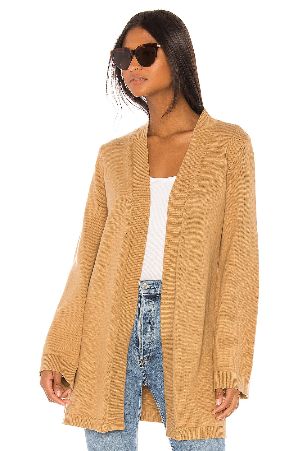 House of Harlow 1960 X REVOLVE Camena Cardigan in Camel