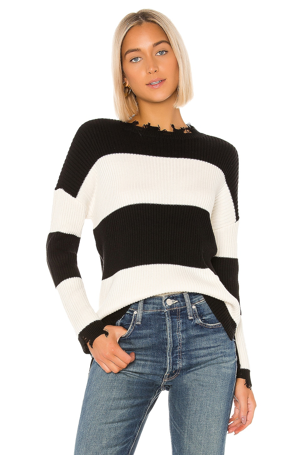 House of Harlow 1960 X REVOLVE Gracelyn Sweater in Black & White stripe