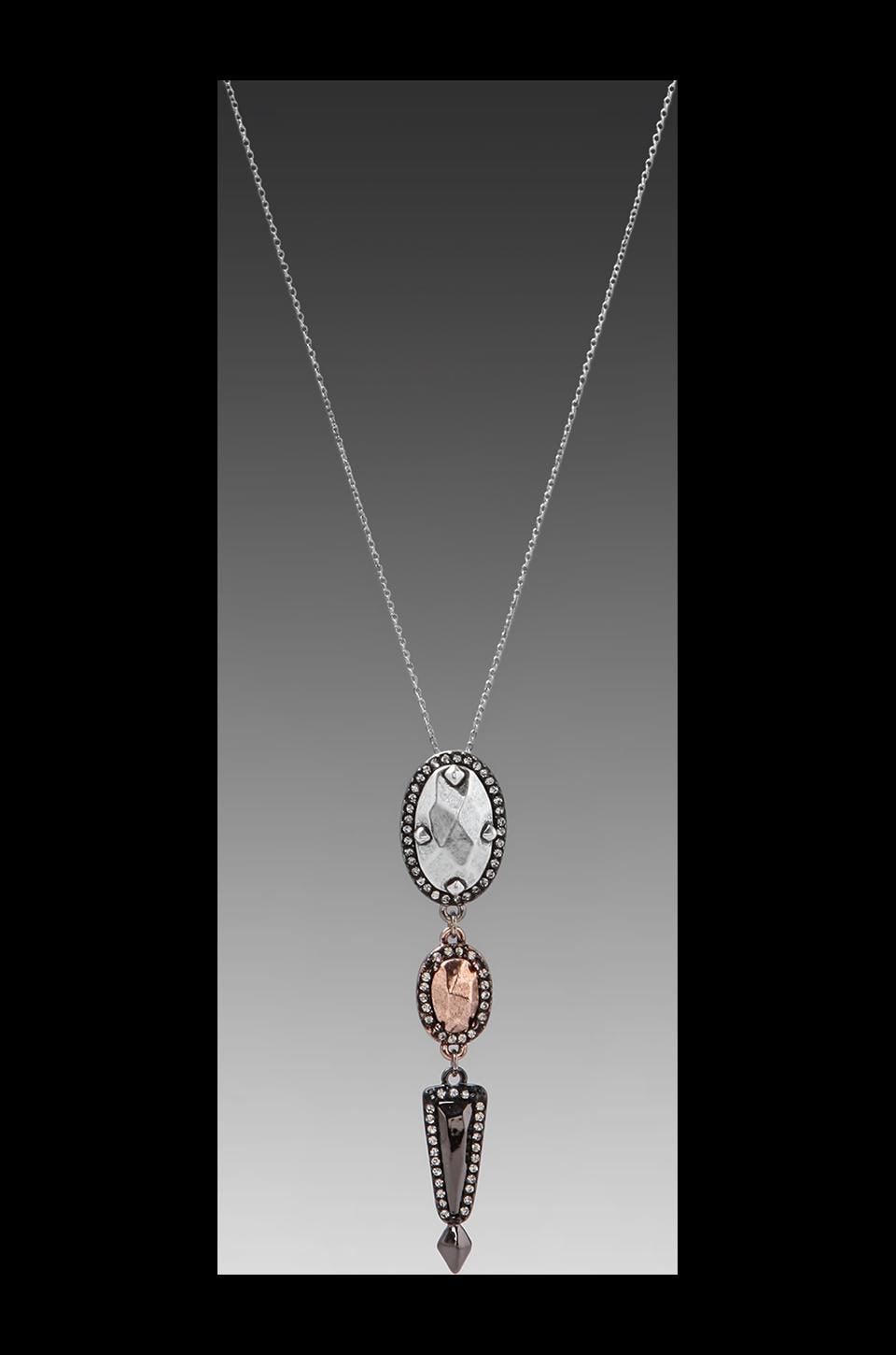 House of Harlow Rif Rebble Pendant Necklace in Tri Tone