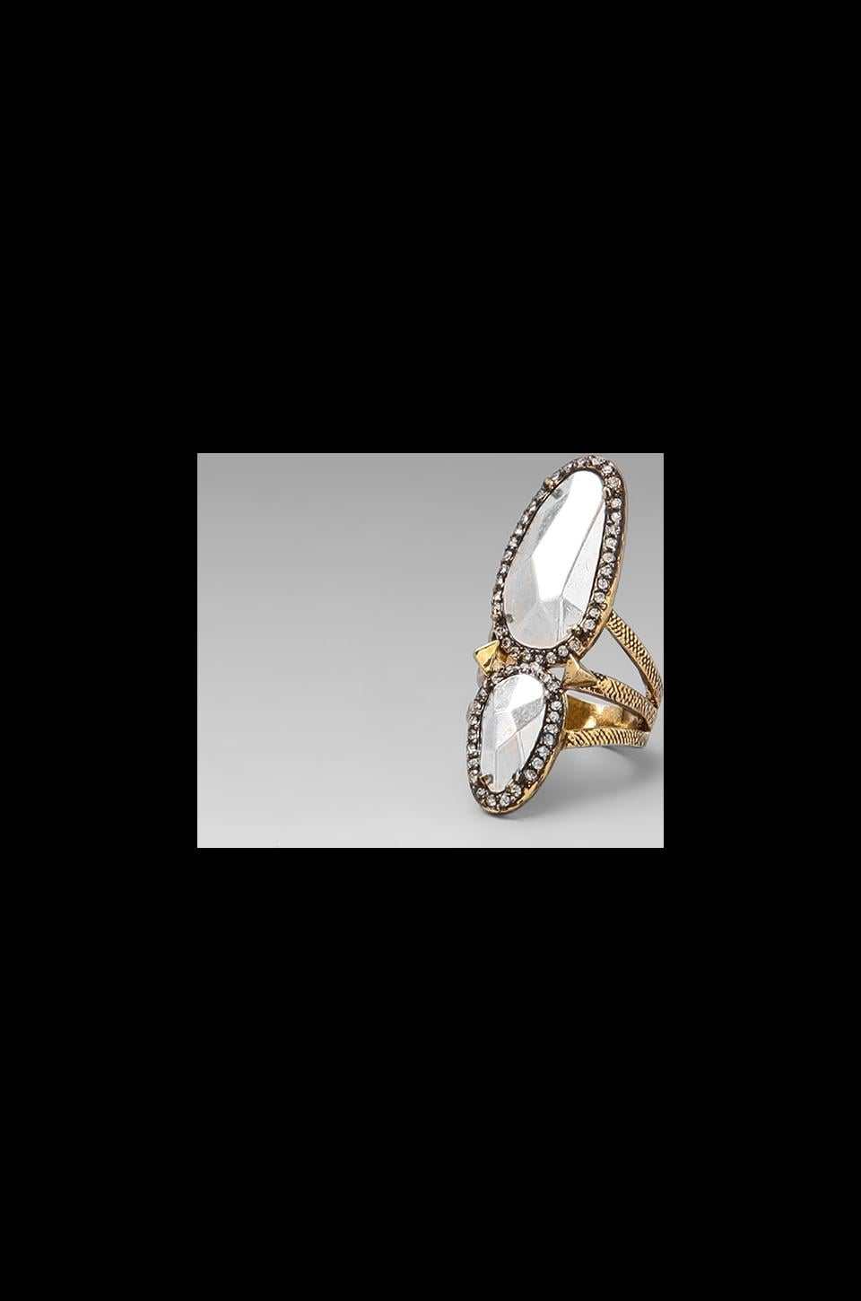 House of Harlow Stacked Rif Pebble Ring Gold/Silver in Two Tone