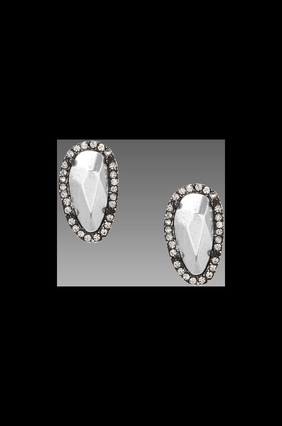 House of Harlow Rif Pebble Stud Earrings in Silver