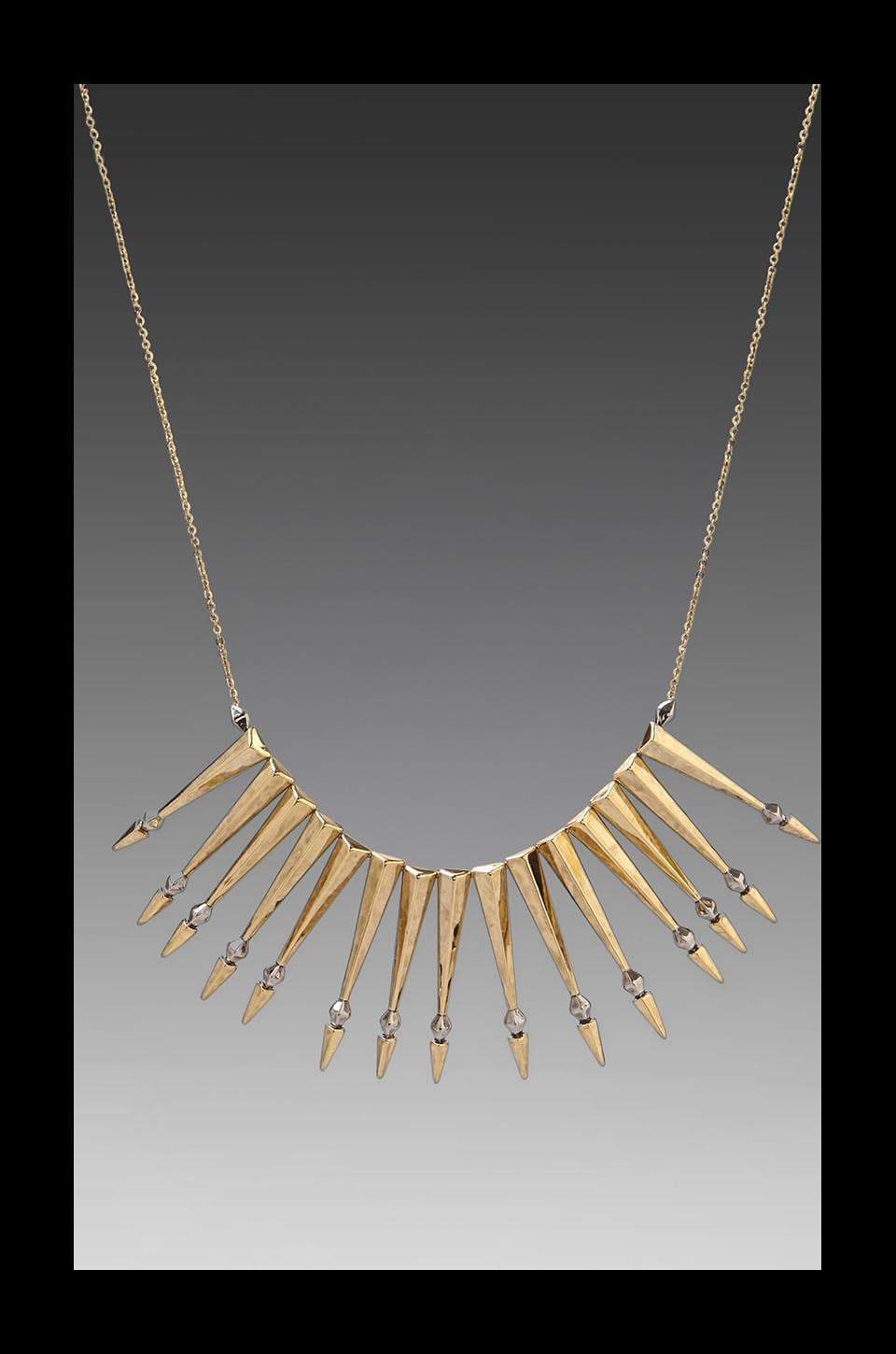 House of Harlow Nomadic Warrior Arrow Necklace in Gold