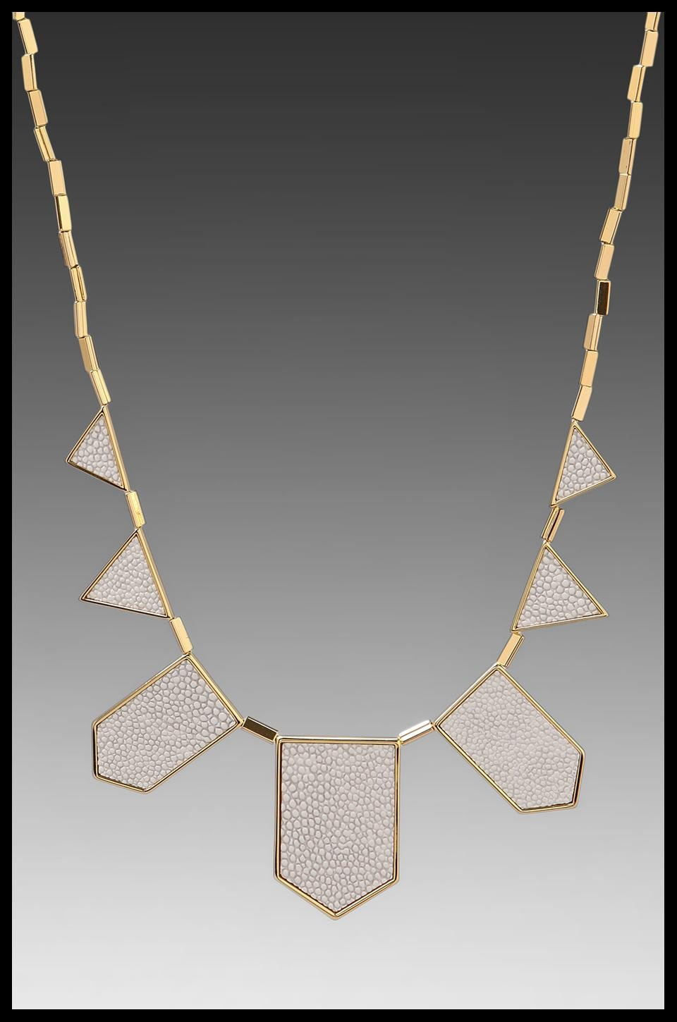 House of Harlow 1960 House of Harlow White Sand Five Station Necklace in Sting Ray